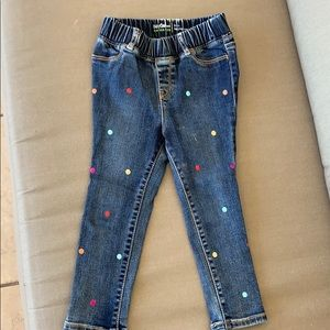 Baby GAP leggings jeans with glitter dots!